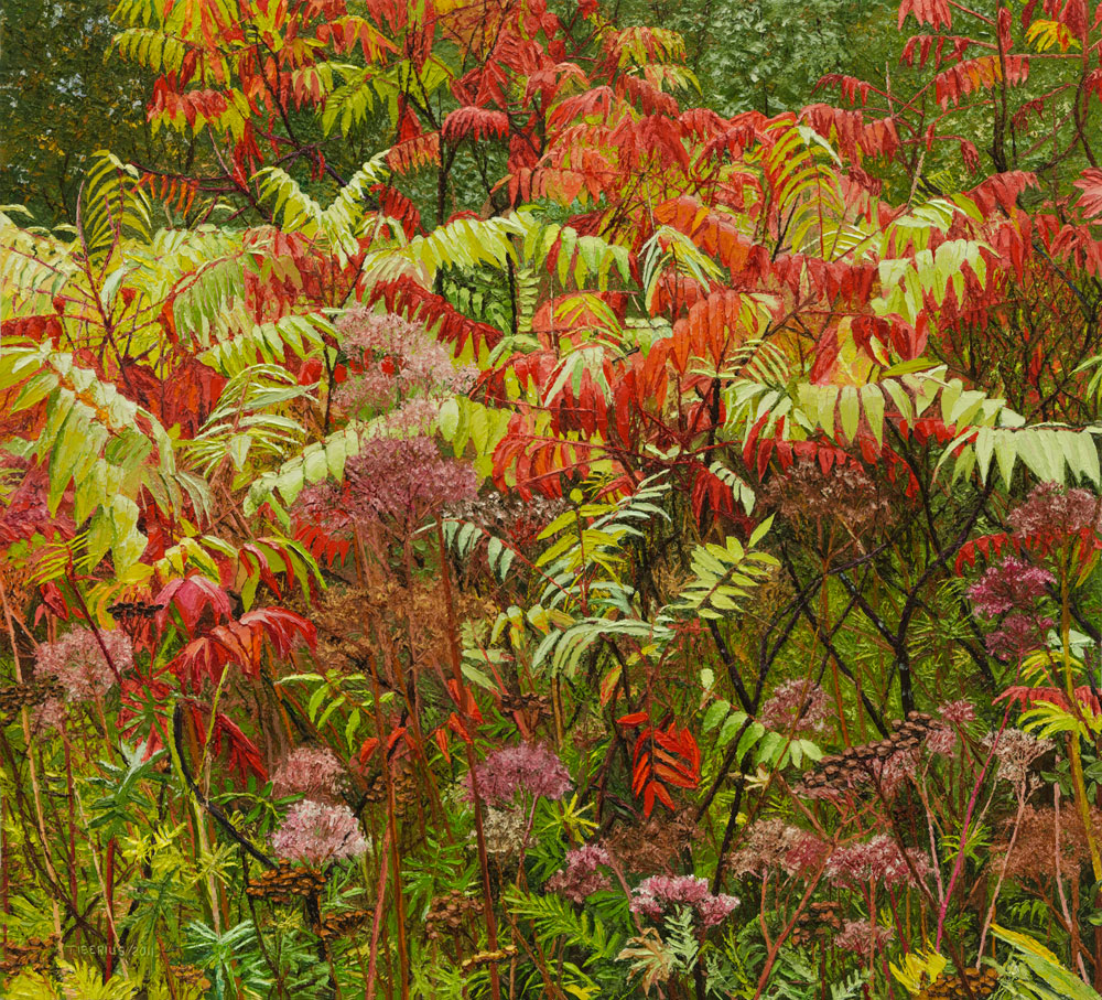 Sumac in the Rain (sold)  |  Richard G. Tiberius