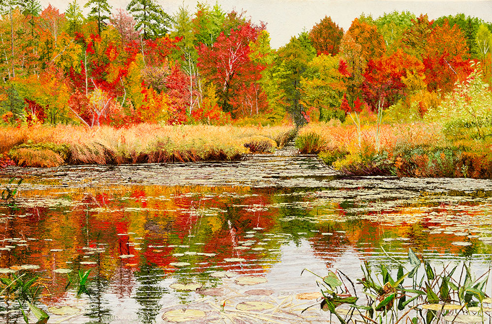 Autumn Reflections (sold) |  Richard G. Tiberius