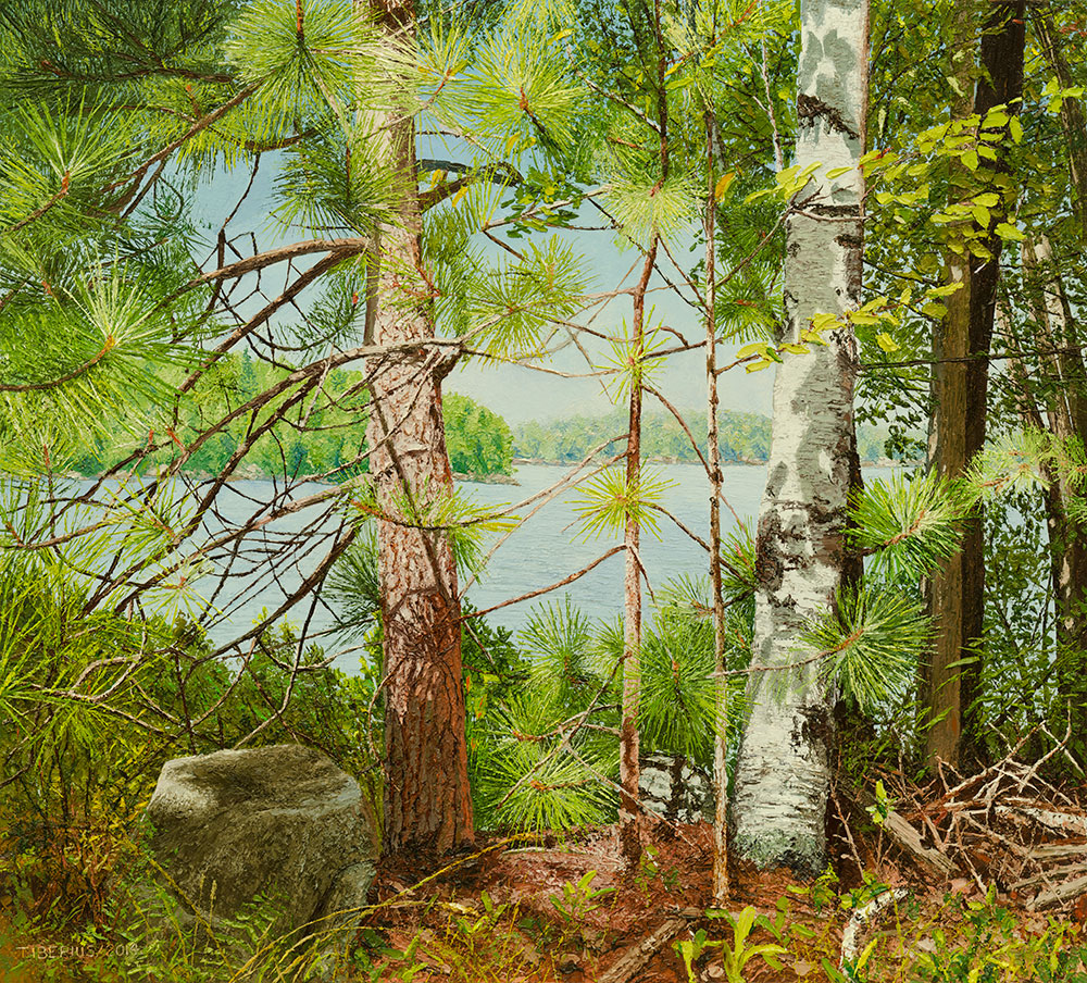 Looking on the Lake Through the Trees (sold)