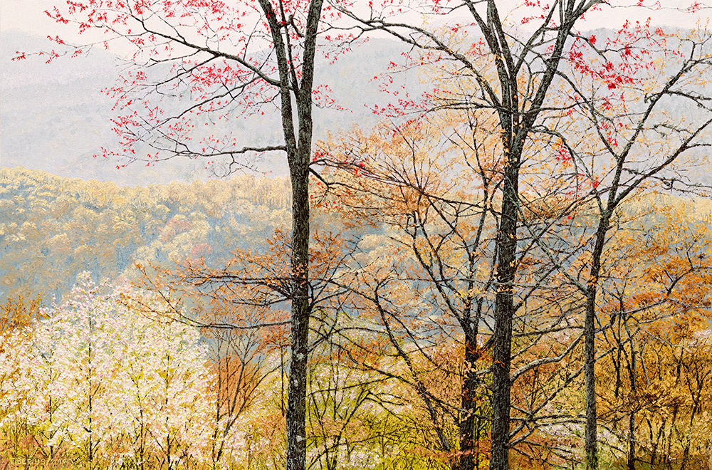 Smoky Mountains in Early Spring (sold)  |  Richard G. Tiberius