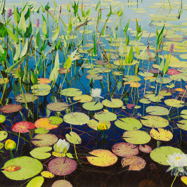 Water Lilies and Pickerel Weed (sold) | Richard G. Tiberius