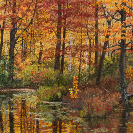 Maples at the Edge of a Pond | Richard G. Tiberius