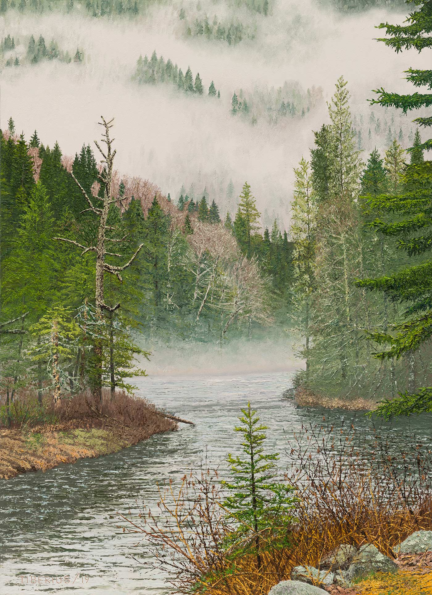 Jacques Cartier River, Morning Mist | Richard Tiberius